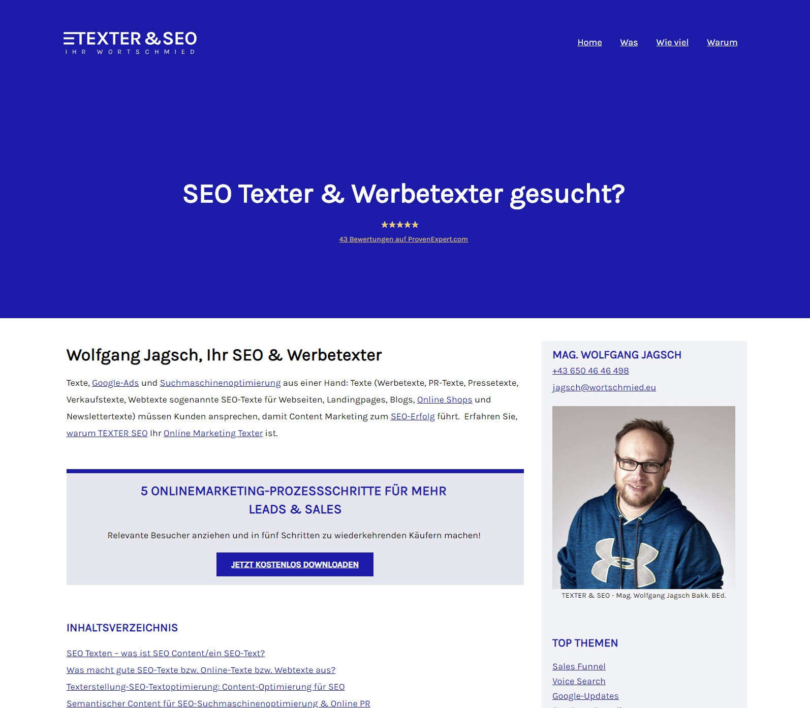 Webseiten Relaunch - Berger+Team