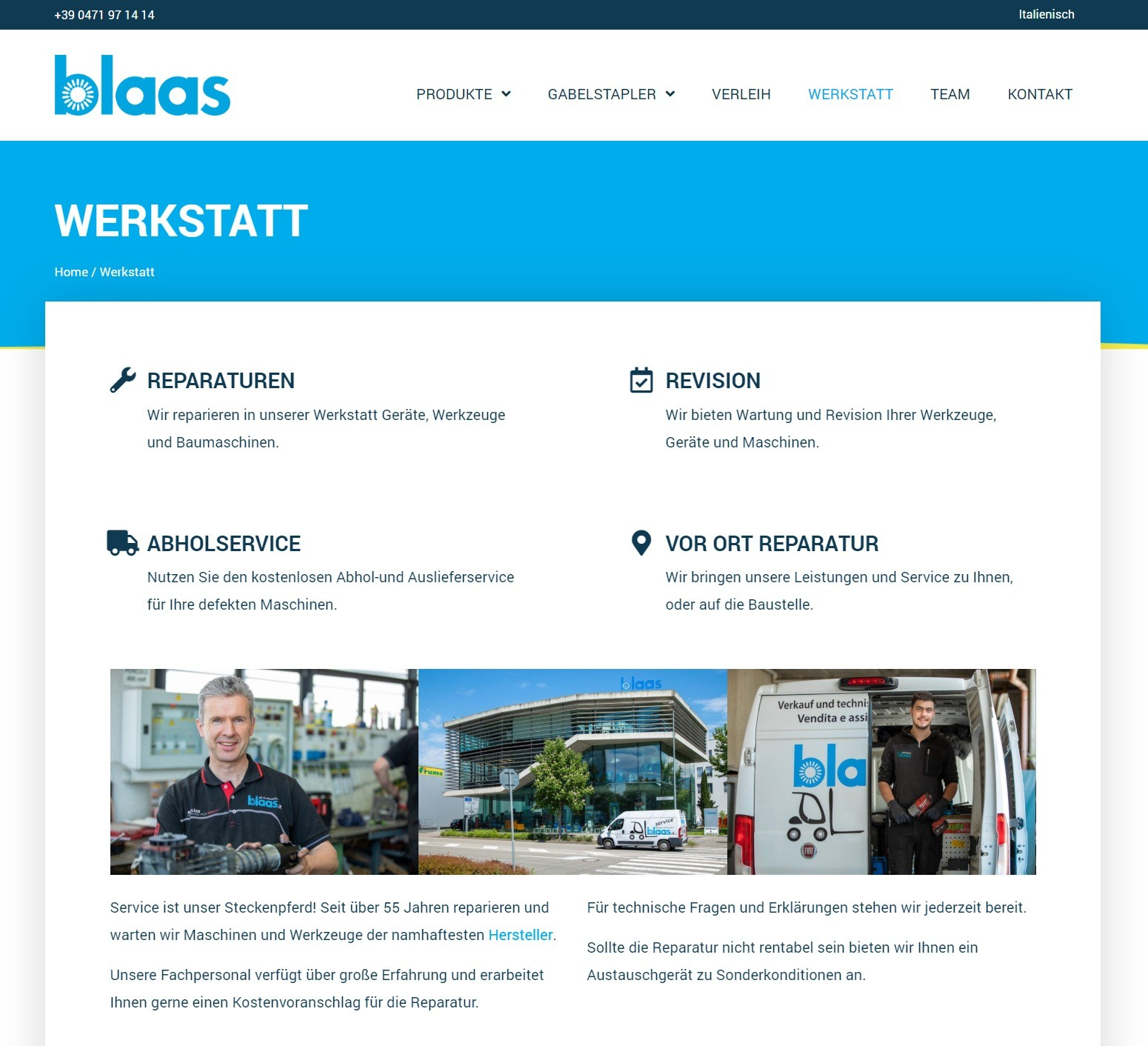 Blaas Webdesign Screenshot