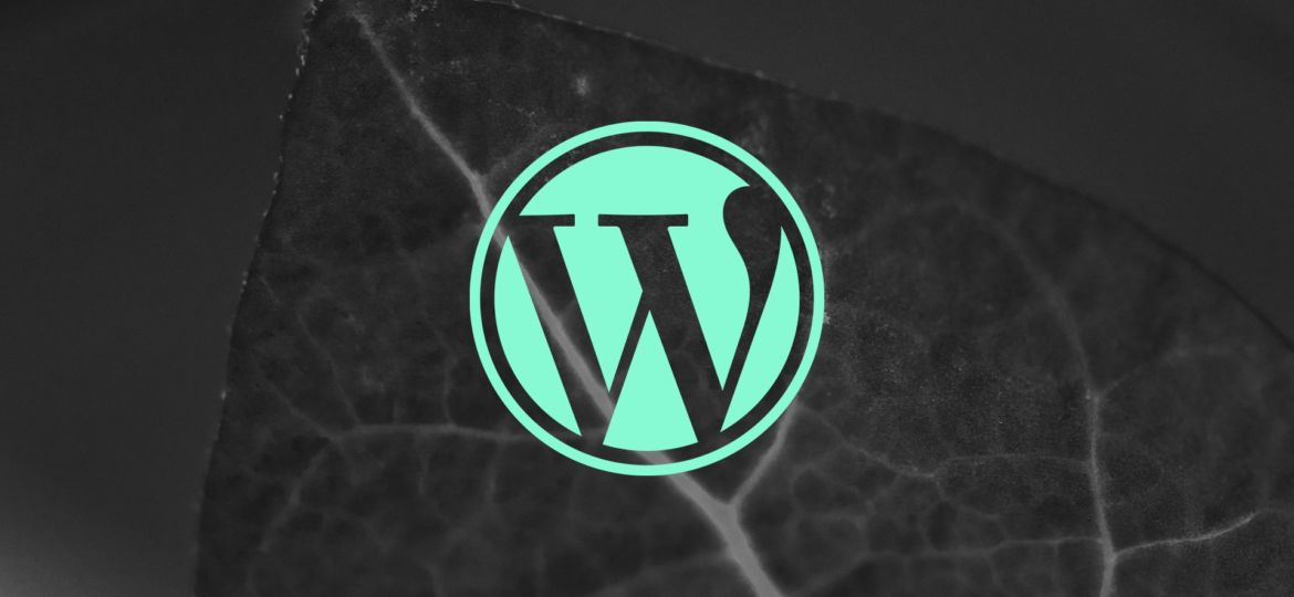 Wordpress Logo auf Foto