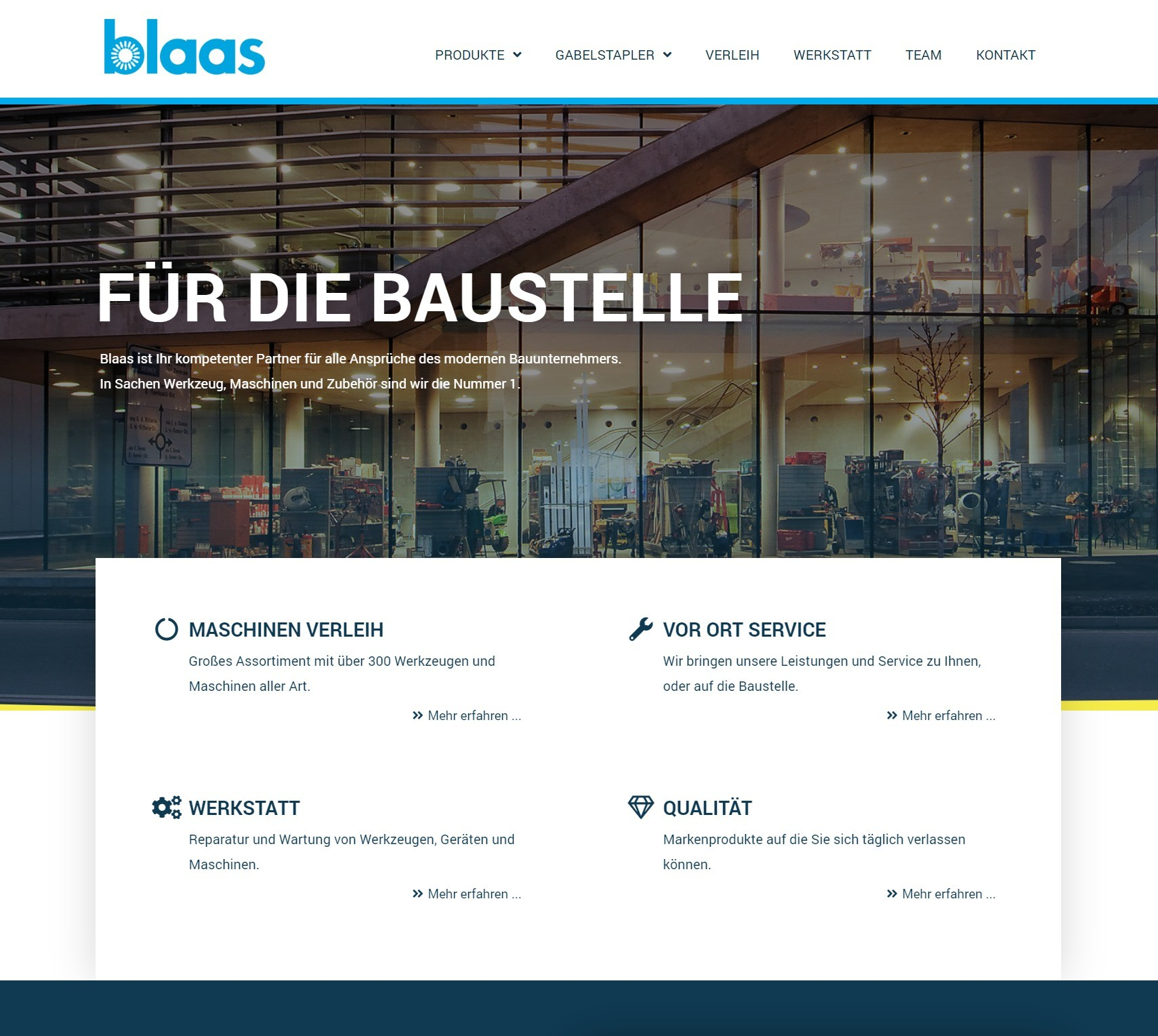 Screenshot Webdesign der Firma Blaas OHG